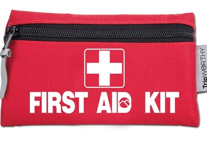 Tripworthy Travel Size First Aid Kit: 100 Piece Small First Aid Travel Bag Compact Lightweight & Portable Mini 1st Aid Box | Car Camping Backpacking Hiking School Office & Survival…